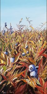 blueberry painting, original oil painting, maine, maria boord,