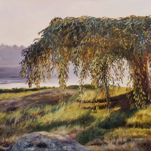 Cabbage Island Sunset Tree - After a stellar meal 30x40 AFP