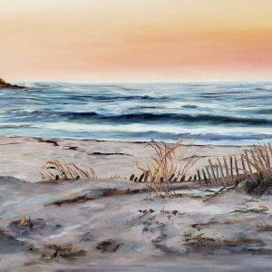 "Cape Cod sunset, 15"" x 30"", Original oil painting on canvas"