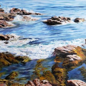 "Wonderland, Acadia National Park 24"" x 30"", Original oil painting on canvas"